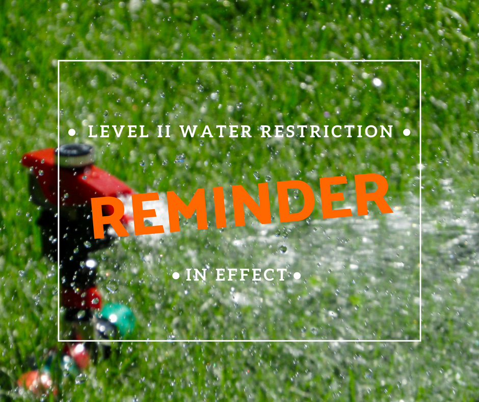 Water Restriction Reminder