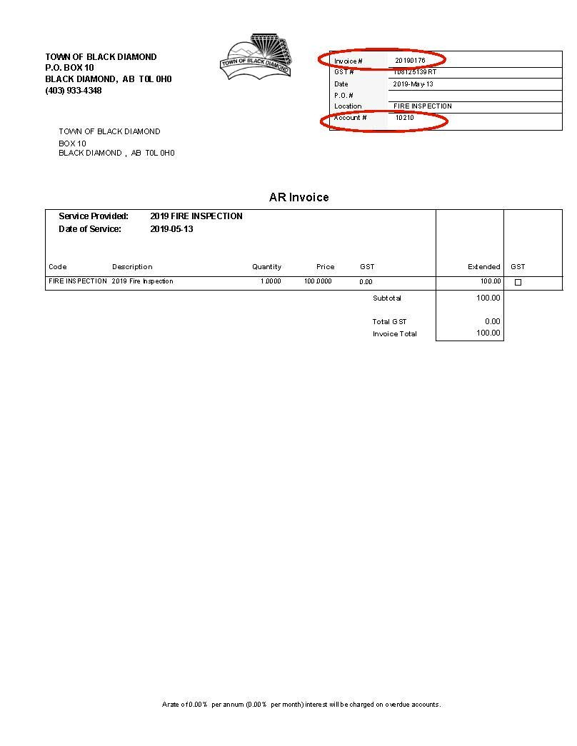 AR Invoice Opens in new window