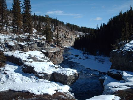 Elbow Falls to the North of Black Diamond, AB