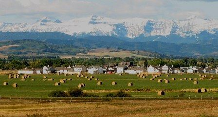The Town of Black Diamond, AB Nestled Between Pastures and Foothills