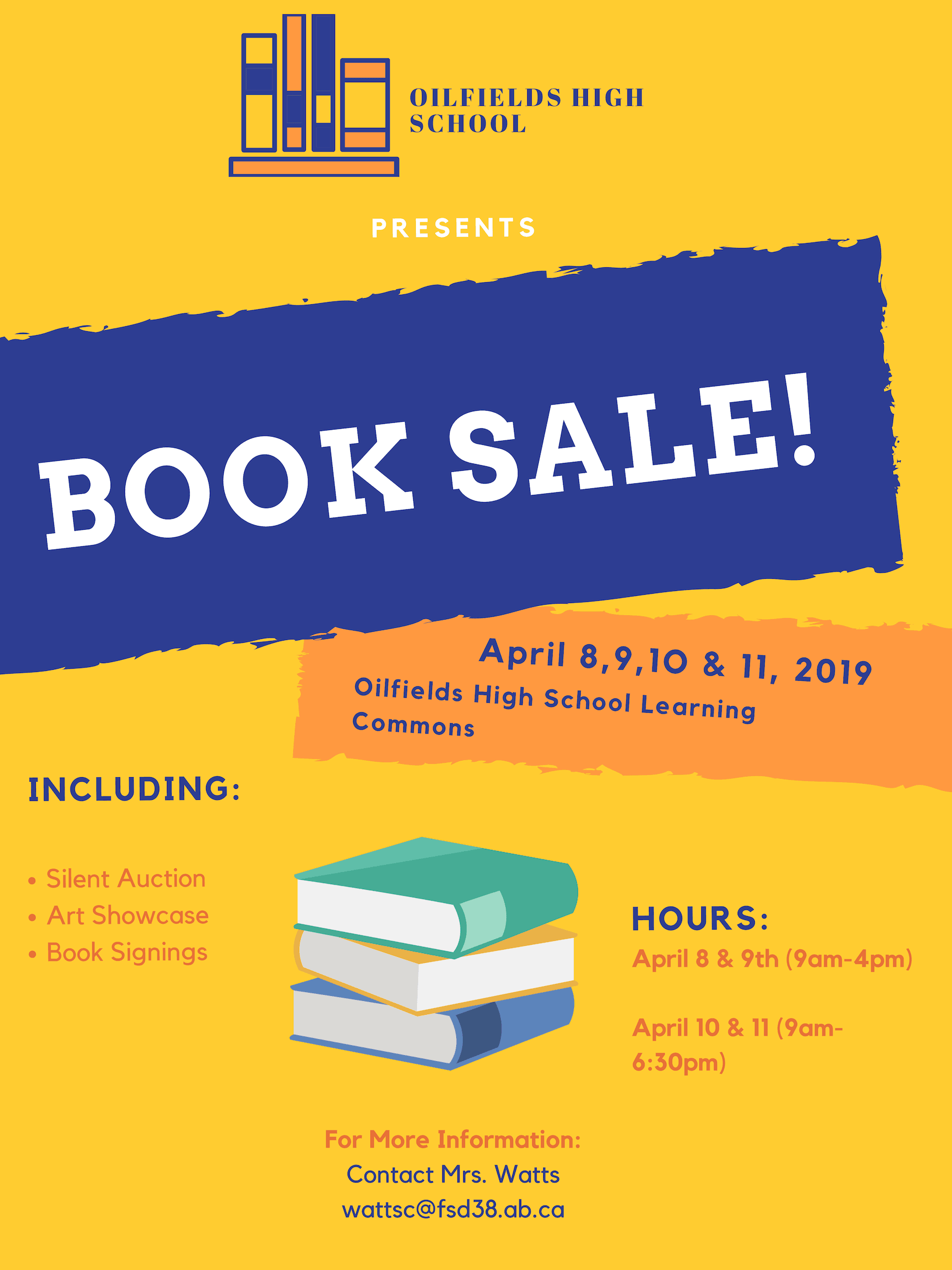 Book sale poster ohs