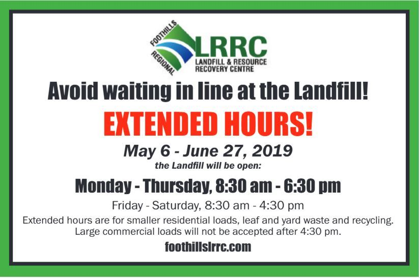 Landfill Hours ext