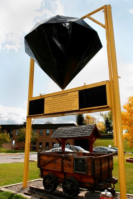 Historic Black Diamond monument by Jim Nelson